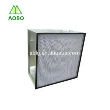 H13, H14 separador tipo caja filtro HEPA para campanas de flujo de aire laminar, laboratorio