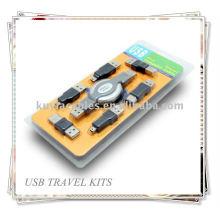 USB para IEEE 1394 Firewire Travel Kit Cabo 6 Adaptadores