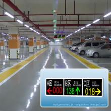 Tela disponível da mensagem do diodo emissor de luz da exposição da orientação dos lotes do estacionamento