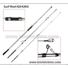 100-250g 3.1 canne à pêche de bâton de surf de carbone d'action rapide de bout de diamètre