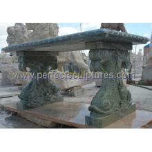 Banc de jardin en granit de marbre en pierre antique pour meubles de jardin (QTC069)