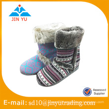 Factory price elegant lady indoor lady winter indoor cotton slipper zapato