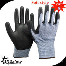 SRSAFETY 13 gauge nylon and HPPE and glassfibre liner coated nitrile on palm gloves