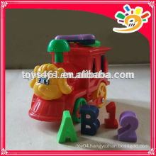 Cute Cartoon Dog Pull Line Toys,Plastic Train With Bell