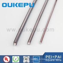 China líder proveedor exportación 7.0 * 7.0 mm esmaltado cobre imán cuadrado de alambre