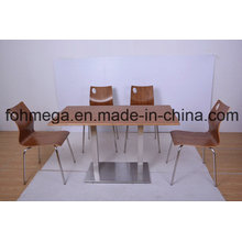 4 Person Dining Table Chair Modern Restaurant Furniture Set (FOH-NCP22)