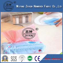 Telas não tecidas anti-bacterianas de Spunlace das limpezas da fiapo da mão