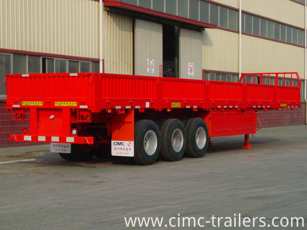 Rr 40 Tri Axle Side Bord Semi Trailer