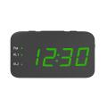 Nouveau Portable Mini Réveil Numérique Radio USB Rechargeable Rouge LED Réveil Double Alarme