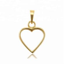 34406 xuping design en acier inoxydable bijoux en or 14K couleur pendentif en forme de coeur