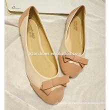Zapato de las señoras de la buena calidad nuevo color del estilo que empalma los planos de las mujeres 2015