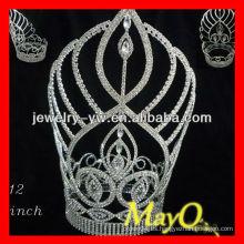 Tiara de la corona del desfile del diamante del diseño nuevo