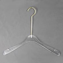 Custom Clear Acrylic clothes coat hangers