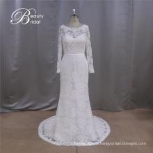 Robe de mariée chérie à manches longues Applique Sweetheart