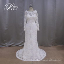 Long Sleeve Applique Sweetheart Bridal Gown