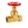 Brass Gate Valve Với nén, Red Hand Wheel