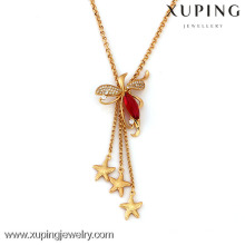 41303-Xuping Мода Женщина Роскошные Длинное Ожерелье Ювелирные Изделия Горячая Продажа