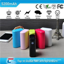 External battery pack charger for Iphonewith plastic case  5200mah