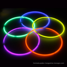 Colored glow light stick with rope necklace
