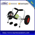 silver frame kayak trolley with rubber pad, used stailess steel bolts and screws