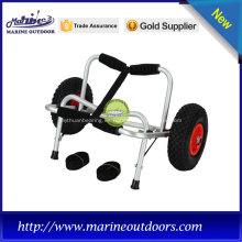 Carro para kayak con marco de plata con almohadilla de goma, tornillos y pernos de acero inoxidable sin uso