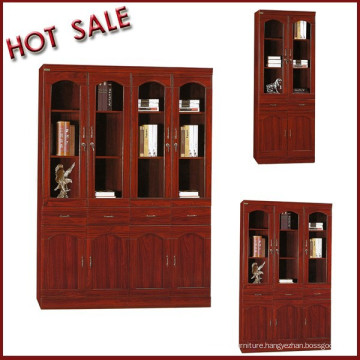 Files and books storage wooden commercial bookcase