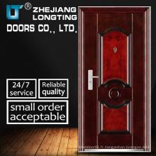 Porte en métal de porte simple en métal d'entrée de porte en métal