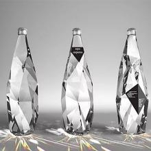 500ml New design Fancy Diamond glass bottle diamond cut water bottle