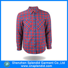 Personalizar alta qualidade Men Outdoor Plaid Flannel Shirt