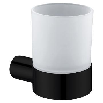 Bathroom Set Black Soap Holder With Glass Holder