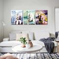Nueva impresión del cartel de la lona del vintage de Monroe 3 pedazos de la impresión de la lona para Dropship