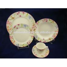 Set de cerámica redondo de la cena 30pcs, vajilla china de la porcelana