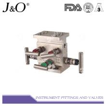 Válvula de válvula de 5 vias forjada de aço inoxidável