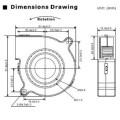 Ventilador de Ventilador de baja frecuencia DC 24V