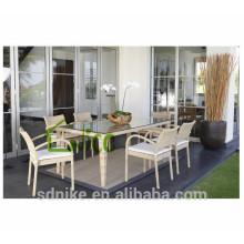 DS-(46) rattan indoor furniture modern square rattan indoor dining table