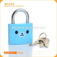 New color spraying plastic cover brass padlock