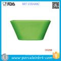 Venta al por mayor Green Square Ceramic Salad Bowl