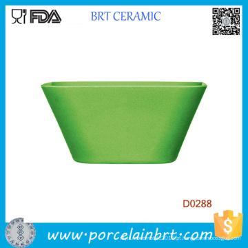 Tigela De Salada De Cerâmica Quadrada Verde