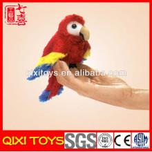 marionetas de dedo de pájaro hechas a mano a mano