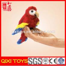 custom hand knitted bird finger puppets