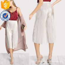 Calças plissadas de alta ascensão faísca manufatura grosso moda feminina vestuário (td3097p)