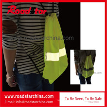 100% polyester reflective drawstring bag for sports