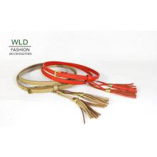 Young Lady′s Fashion Narrow PU Belt (KY3500)