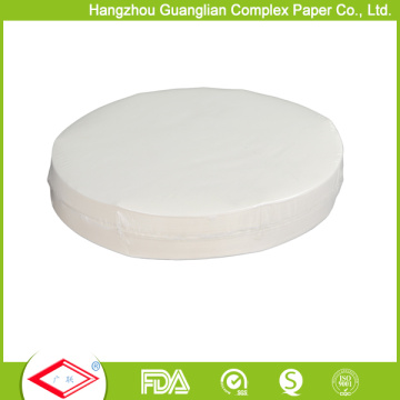 O silicone dobro dos lados toma partido o tamanho Aavailable do OEM dos círculos do papel de cozimento
