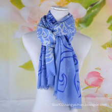 Fashion 100% Merino Wool Printed Scarf (14-BRS310202-1)
