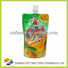 fruit liquid plastic standing bags with spout