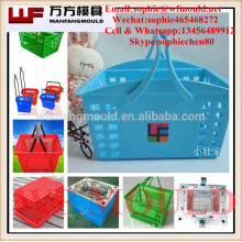 2017 new plastic basket hdpe laundry baskets mold for sales household shopping basket mould making