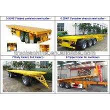 Caminhão de reboque do semitrailer do recipiente de CIMC 3axles 70tons