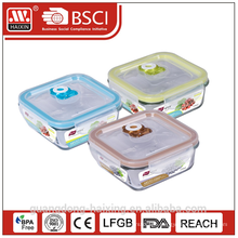 Vacuum Microwavable Freshness Preservation Glass Food Container
