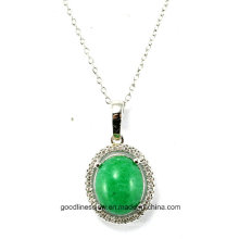 Good Quality and Wholesale Hand Carved 925 Silver Round Pendant P4969g